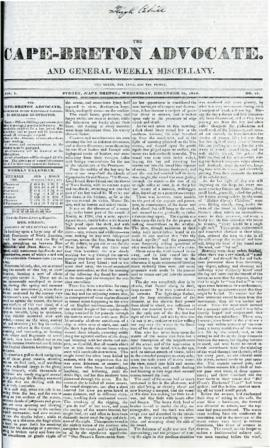The Cape Breton Advocate December 16, 1840