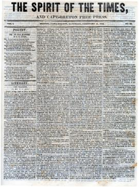 Spirit of the Times February 15, 1845