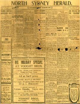 The North Sydney Herald December 24, 1919