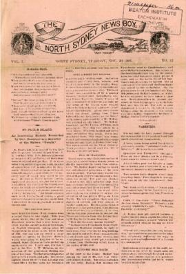 The North Sydney News Boy November 20, 1883