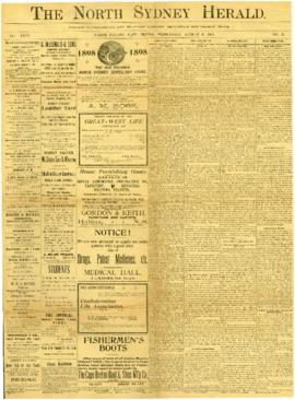 The North Sydney Herald August 17, 1898