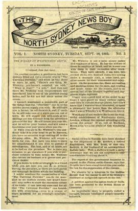 The North Sydney News Boy September 18, 1883