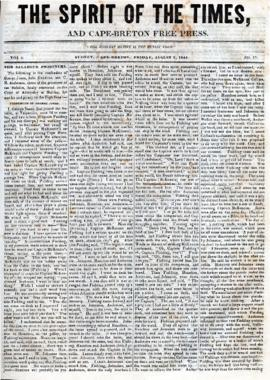 Spirit of the Times August 2, 1844
