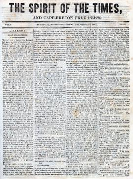 Spirit of the Times November 22, 1844