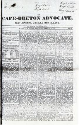 The Cape Breton Advocate February 10, 1841