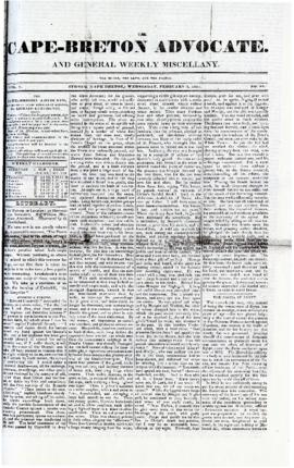 The Cape Breton Advocate February 3, 1841