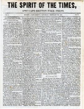 Spirit of the Times February 22, 1845