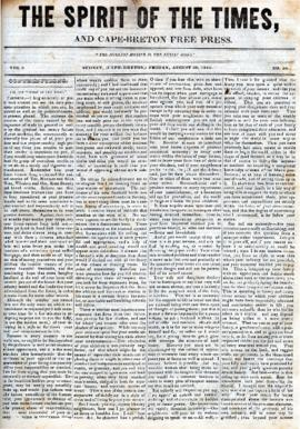 Spirit of the Times August 30, 1844