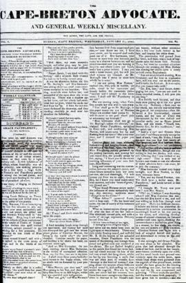 The Cape Breton Advocate January 27, 1841