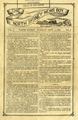 The North Sydney News Boy September 4, 1883
