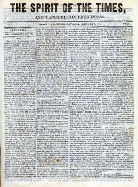 Spirit of the Times February 1, 1845
