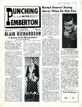 Punching with Pemberton August 1962