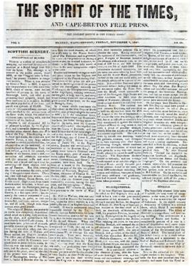 Spirit of the Times November 8, 1844