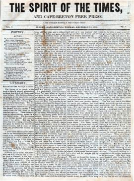 Spirit of the Times December 12, 1843