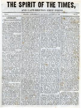 Spirit of the Times January 25, 1845