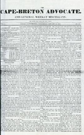 The Cape Breton Advocate January 13, 1841